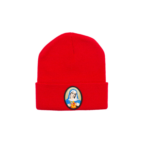 Supreme Red Virgin Mary Beanie