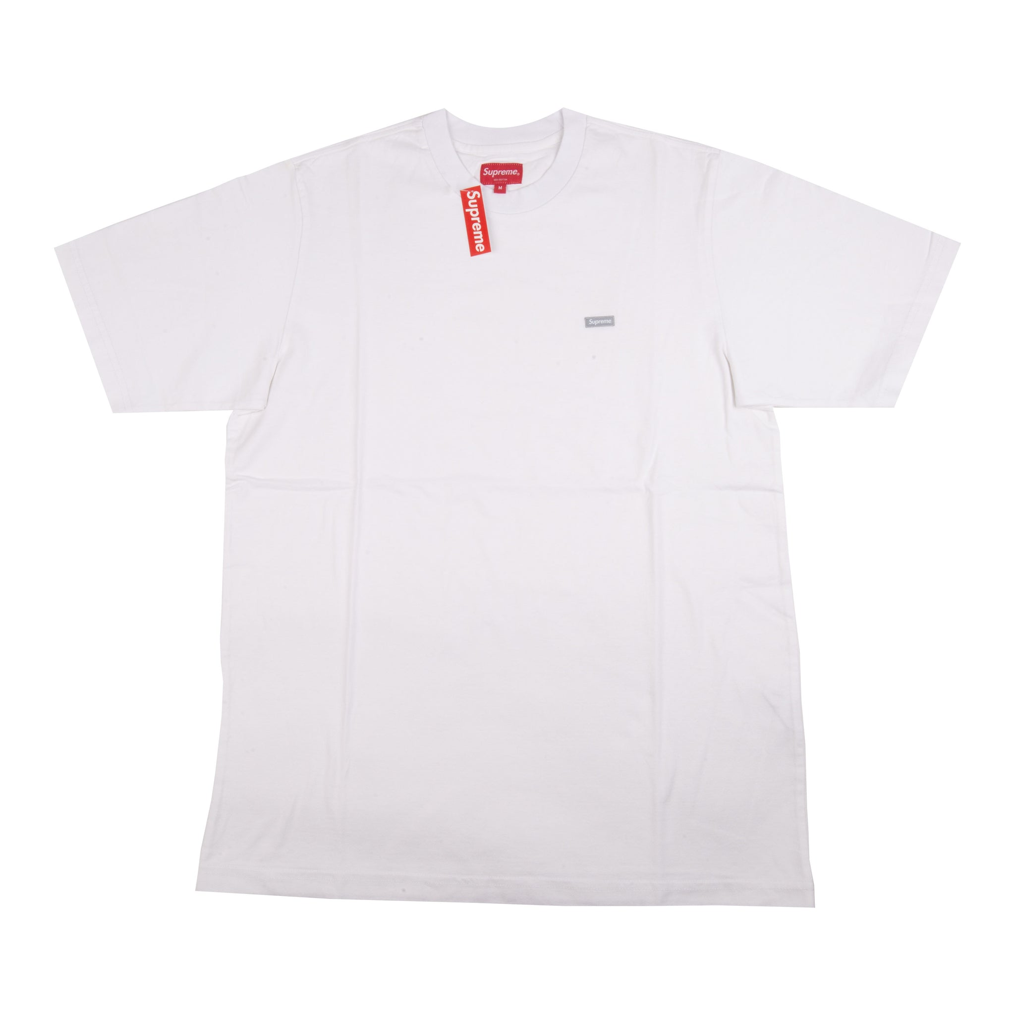 Supreme White Reflective Small Box Logo Tee