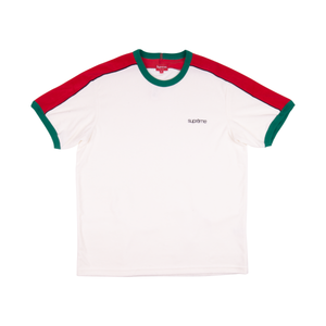 Supreme White Shoulder Stripe Terry Shirt