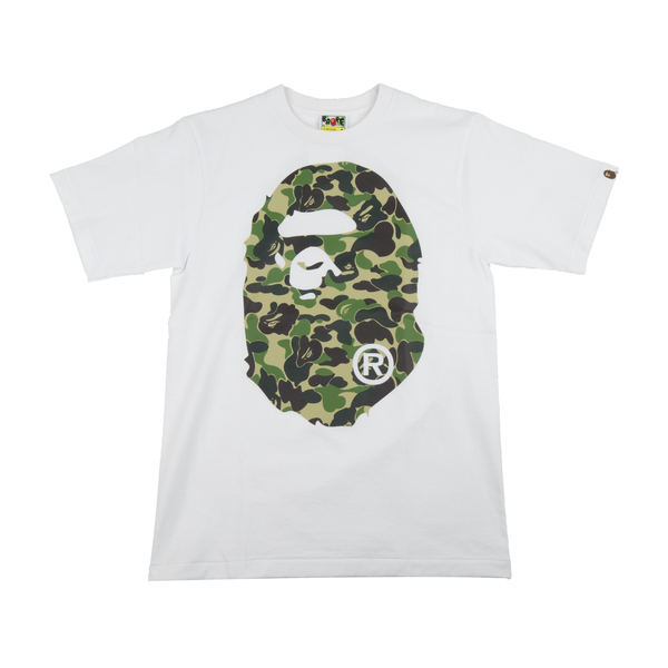 Bape White 1st Camo Big Ape Head Tee