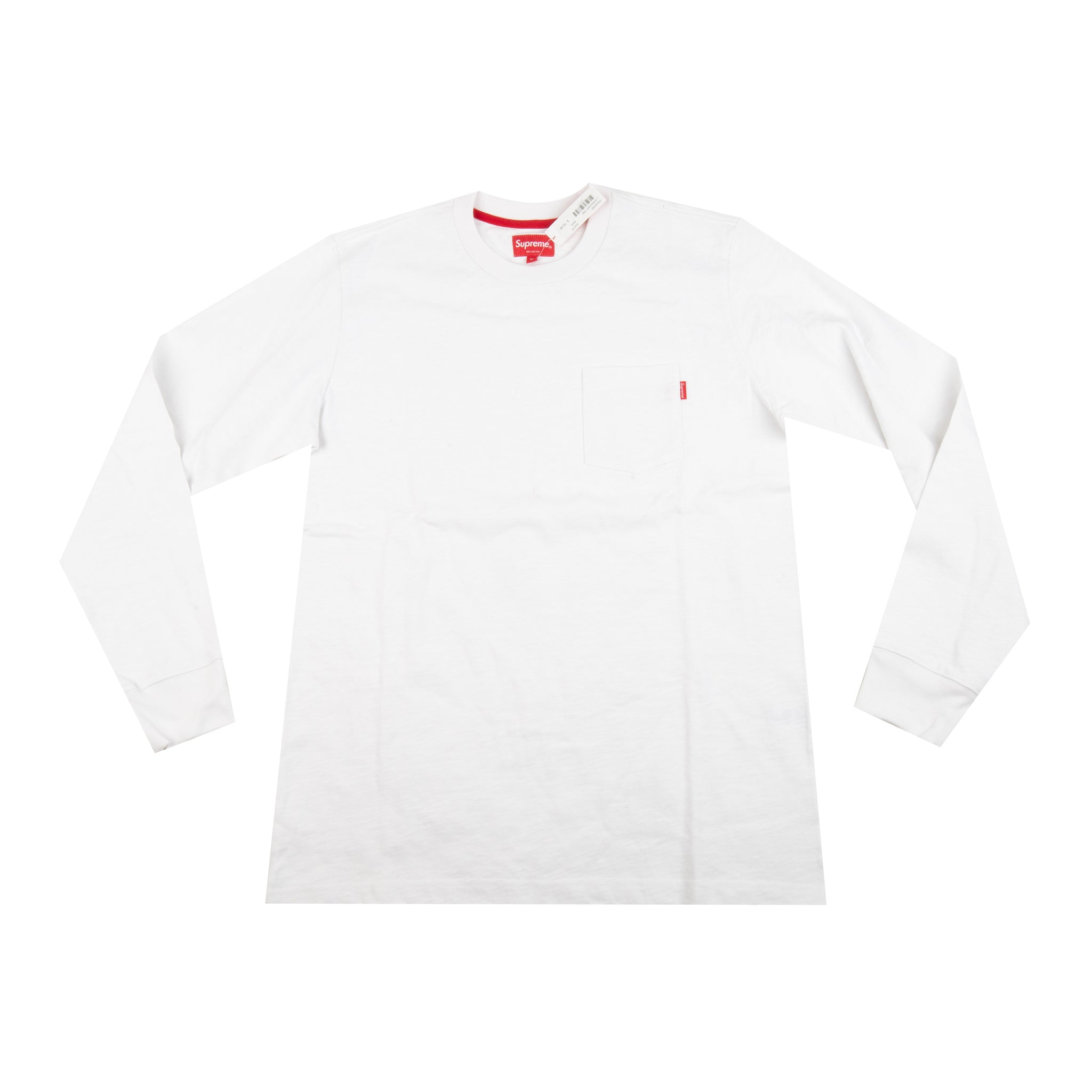 Supreme White Pocket L/S