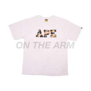 Bape White Yellow Camo APE Tee