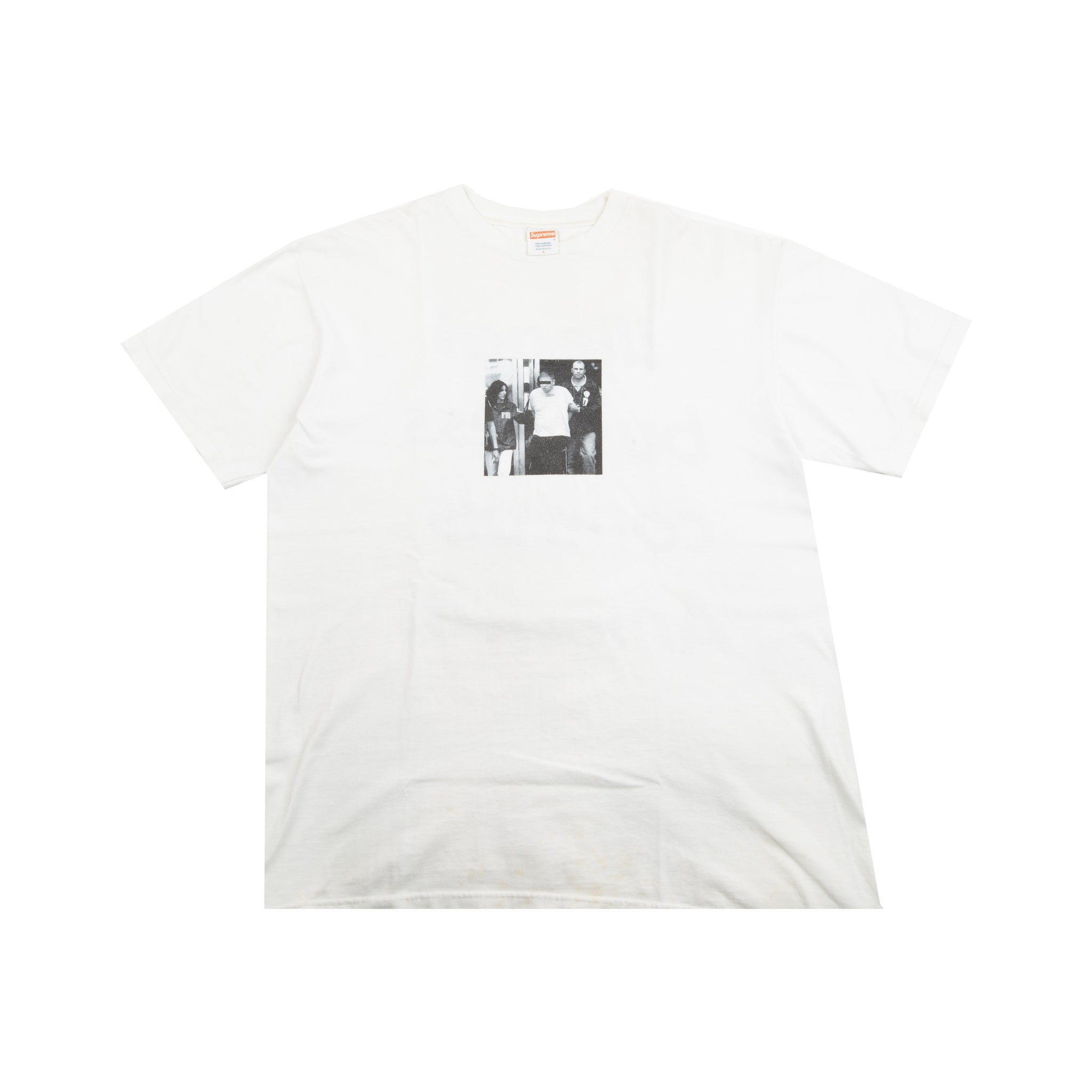 Supreme White Illegal Business Tee