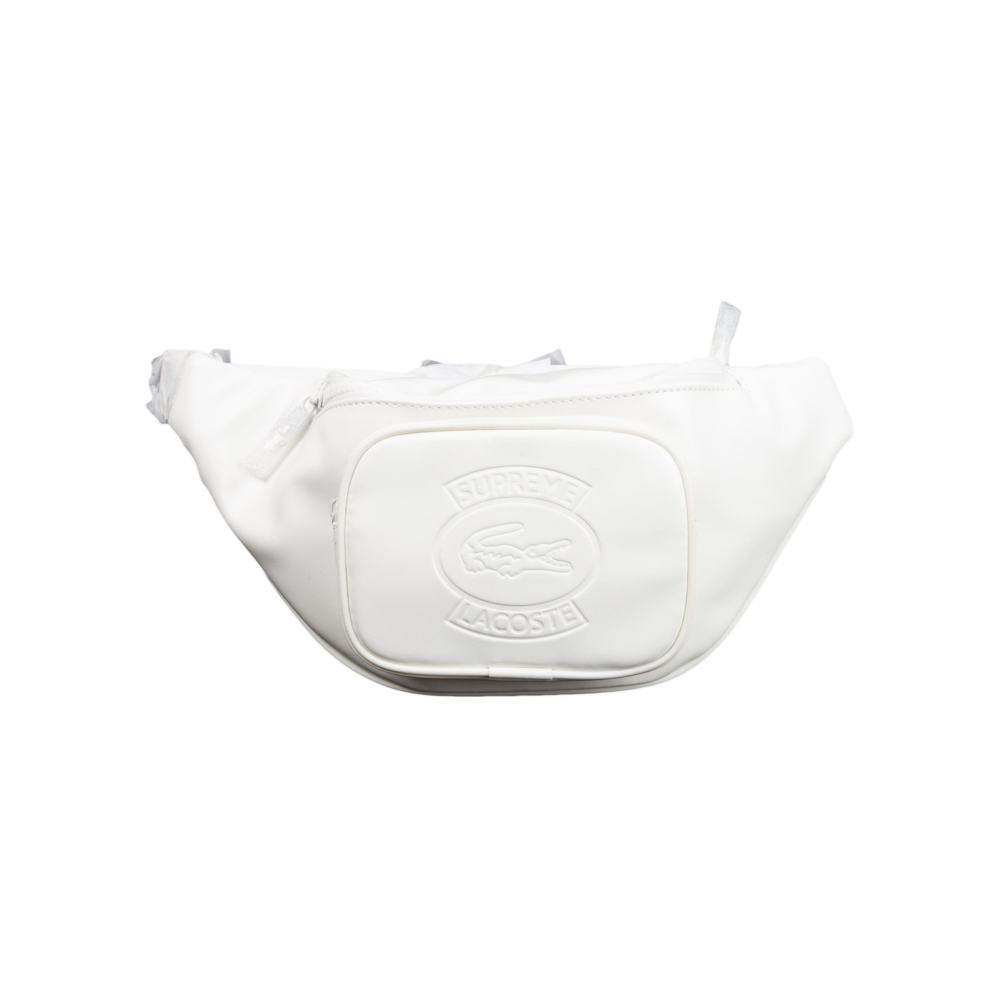Supreme White Lacoste Waist Bag