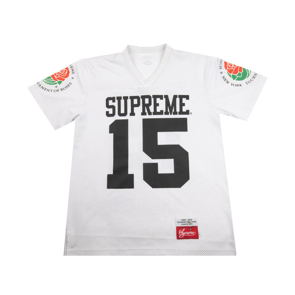 Supreme White Roses Football Jersey