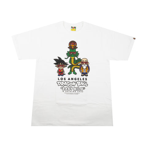 Bape White Dragon Ball Baby Milo Tee