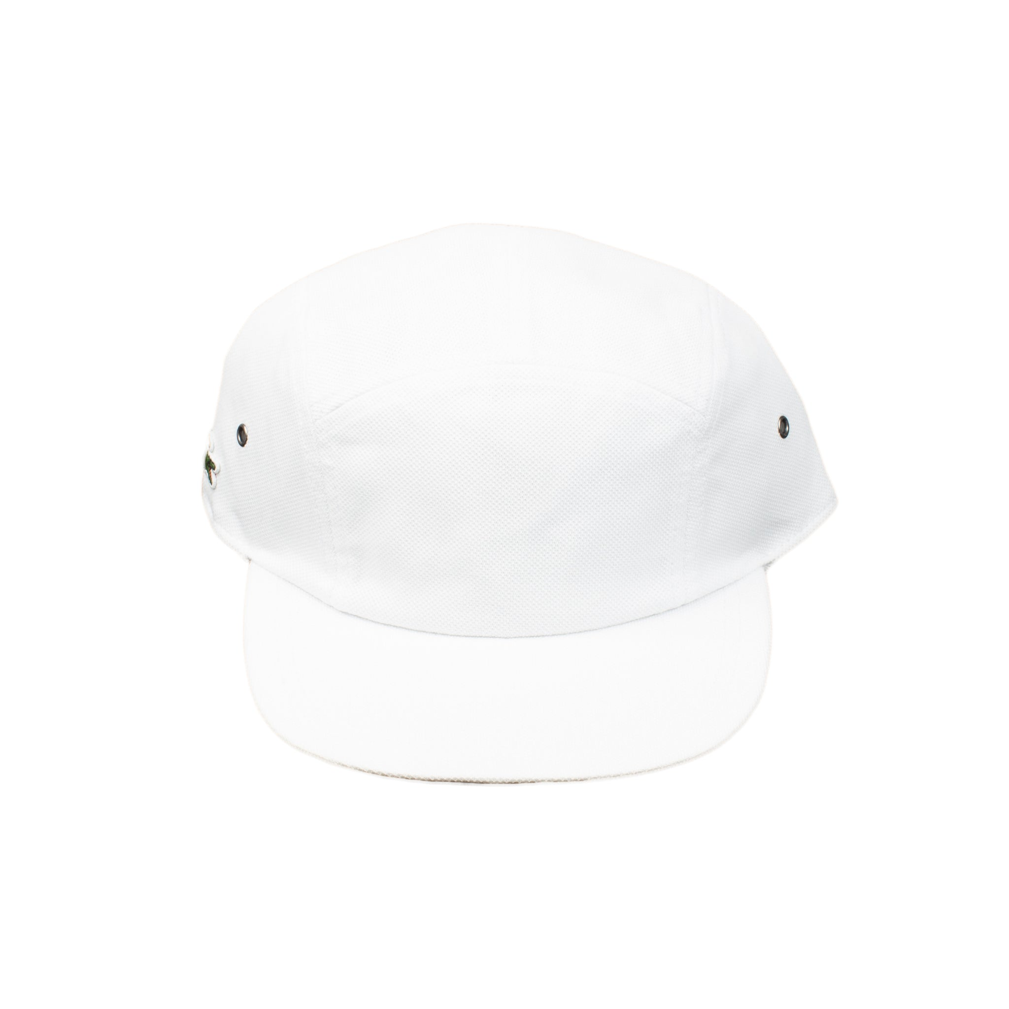 Supreme White Lacoste Pique Camp Cap