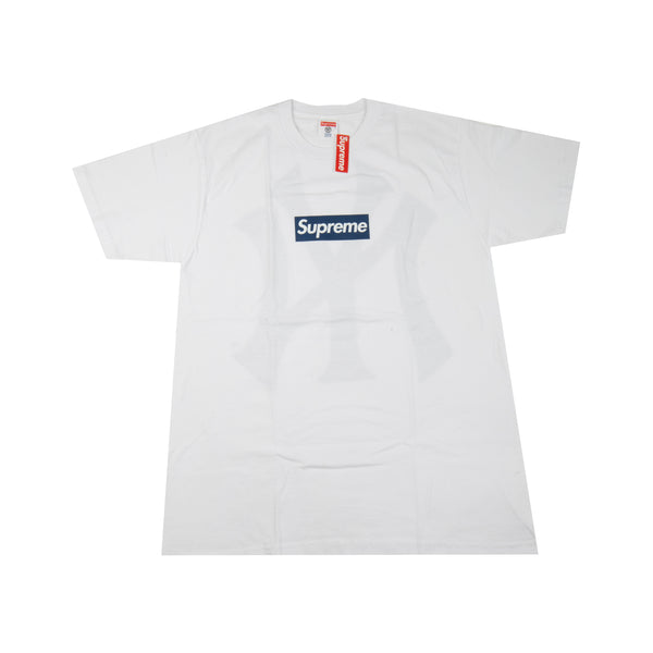 Supreme White Yankees Box Logo Tee