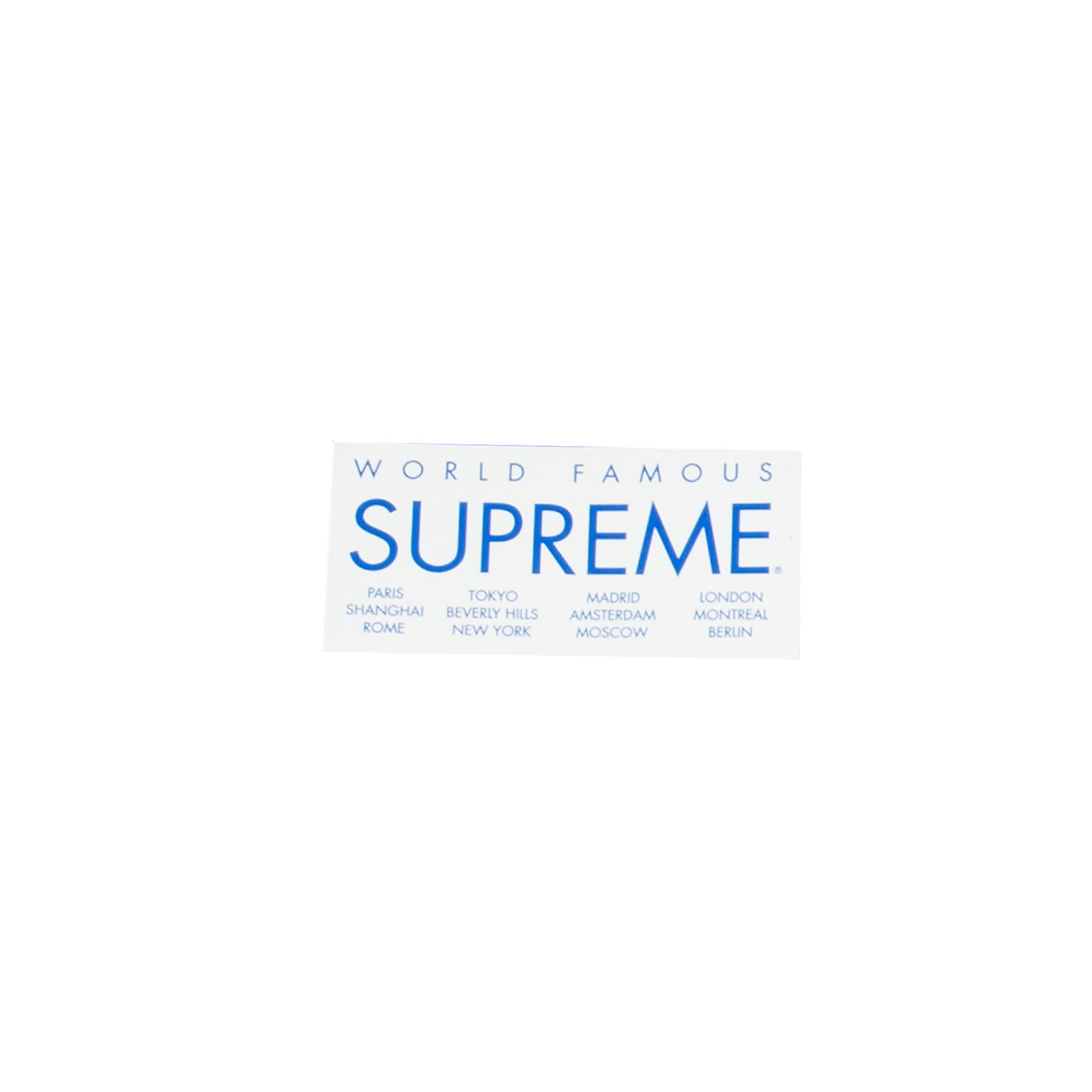 Supreme White International Sticker