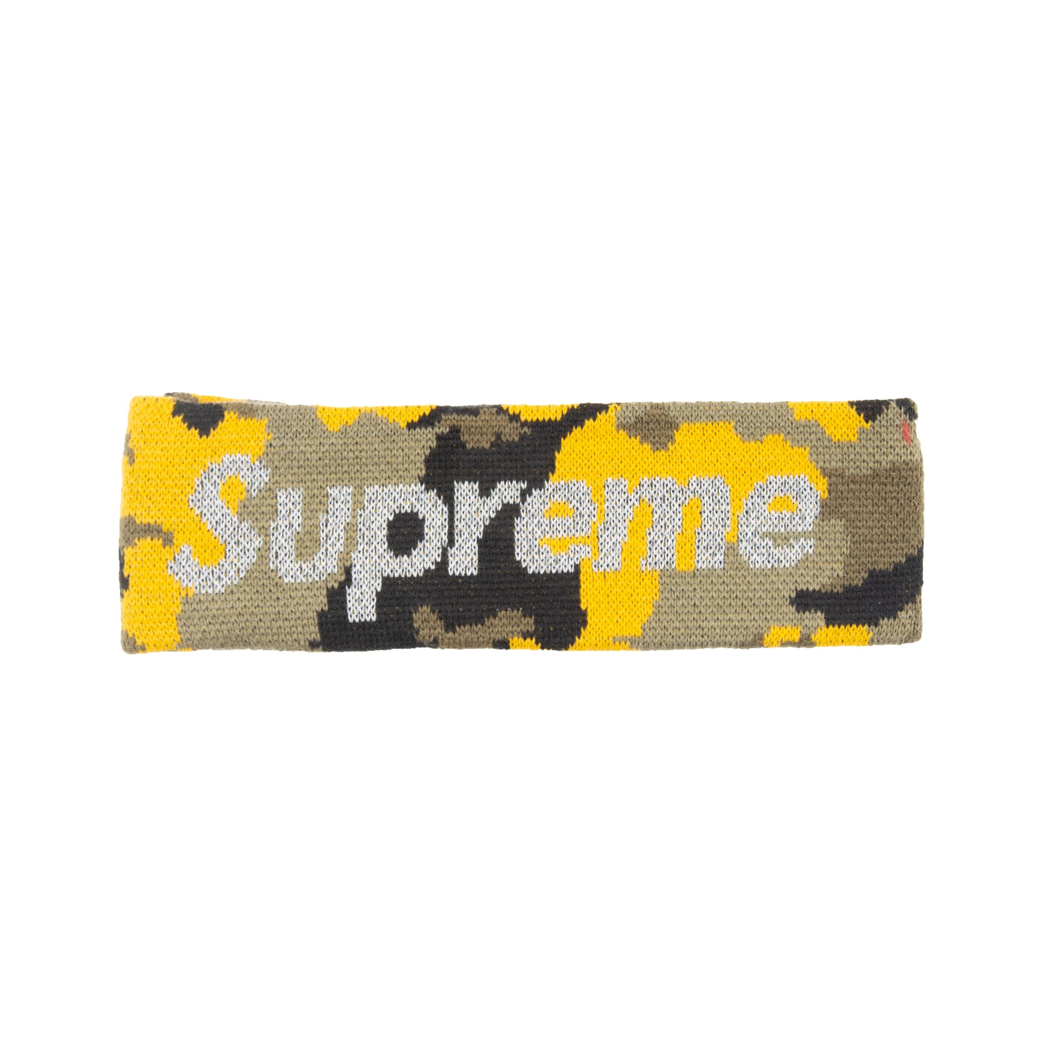 Supreme Yellow Camo New Era 3M Headband