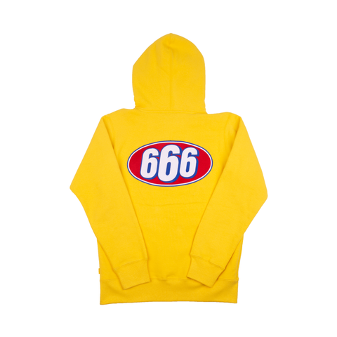 Supreme Yellow 666 Zip-Up Sweater