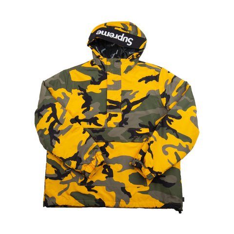 Supreme Yellow Camo Half Zip Pullover