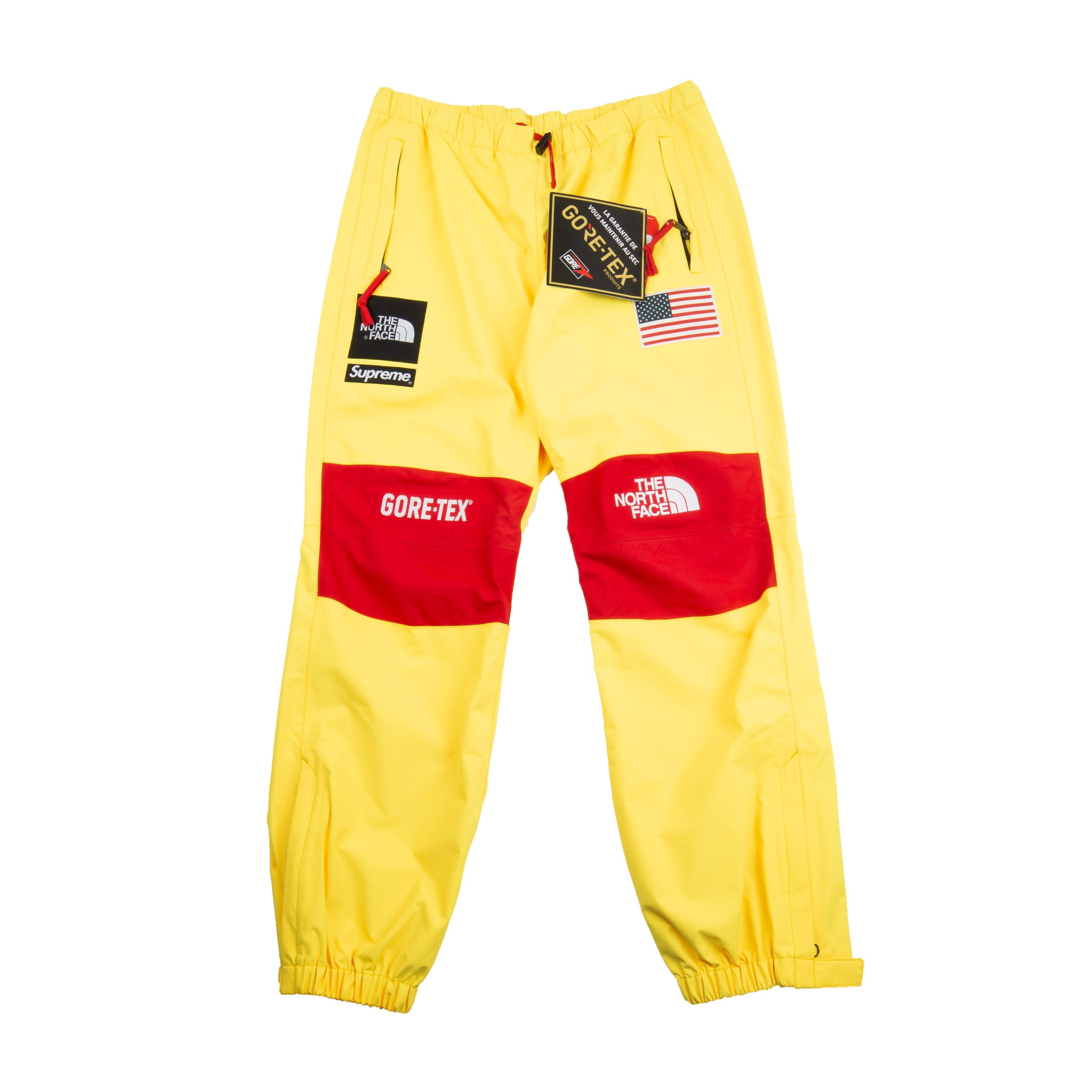 Supreme Yellow TNF Goretex Pants