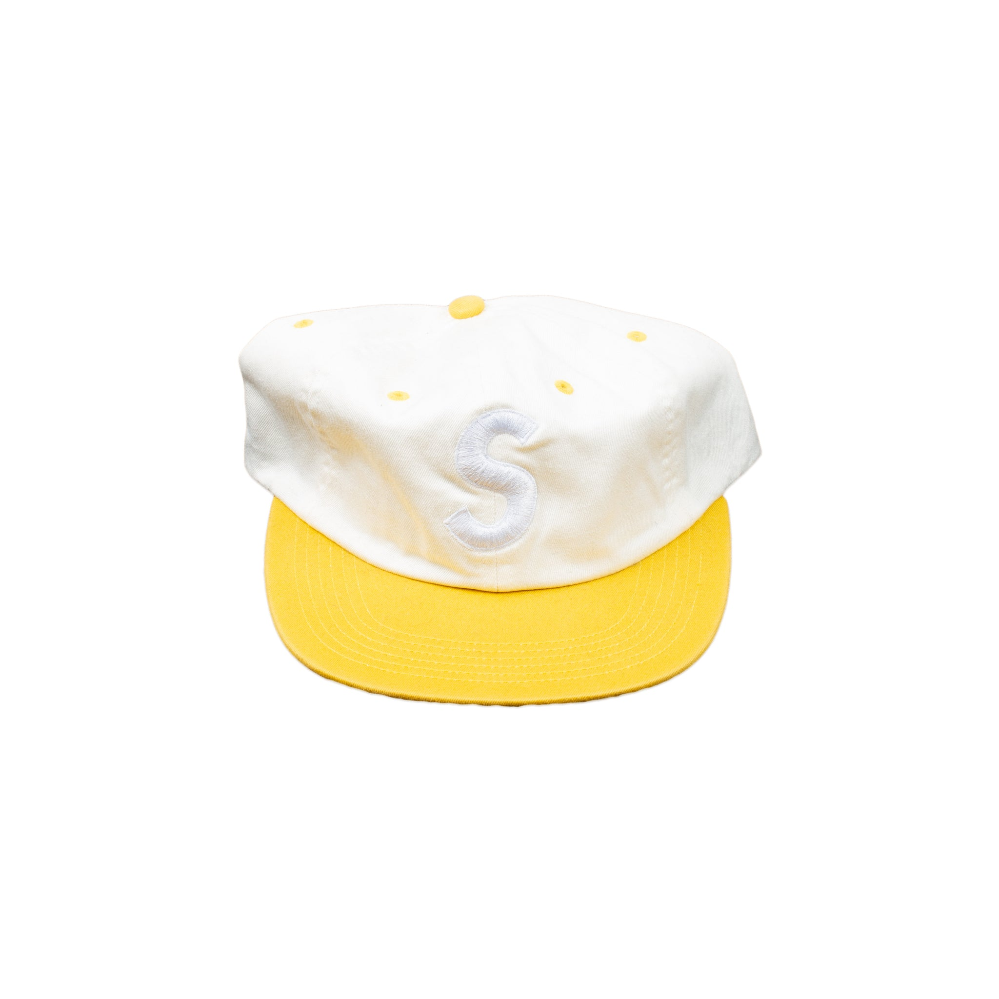 Supreme Yellow Two Tone S Hat