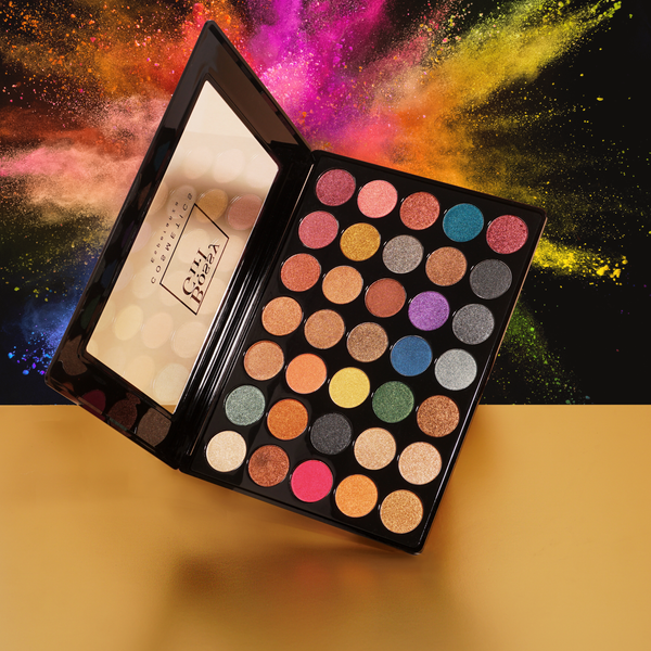 Bossy Girl Cosmetics Esperanza Eyeshadow Palette Best buttery rainbow shades cruelty free bossy cosmetics
