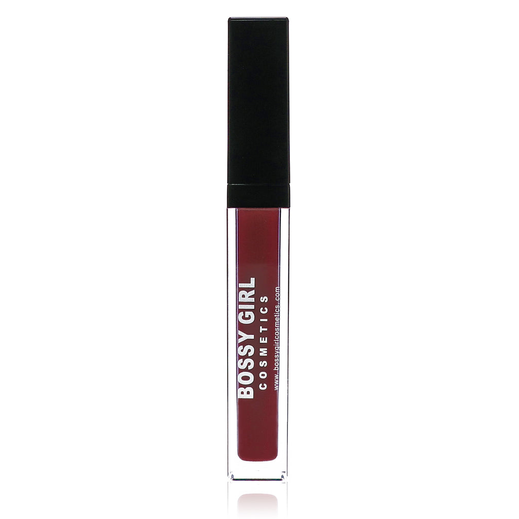 Bossy Girl Cosmetics Red Matte Velvet liquid Lipstick - cruelty-free vegan makeup beauty best red lipstick how to apply matte lipstick