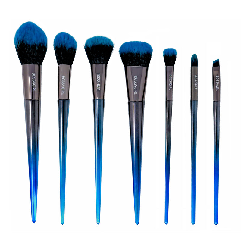 Caribbean 7-Piece Brush Set - Bossy Girl Cosmetics