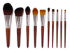 Kona 10-Piece Professional Makeup Brush Set by Bossy Girl Cosmetics