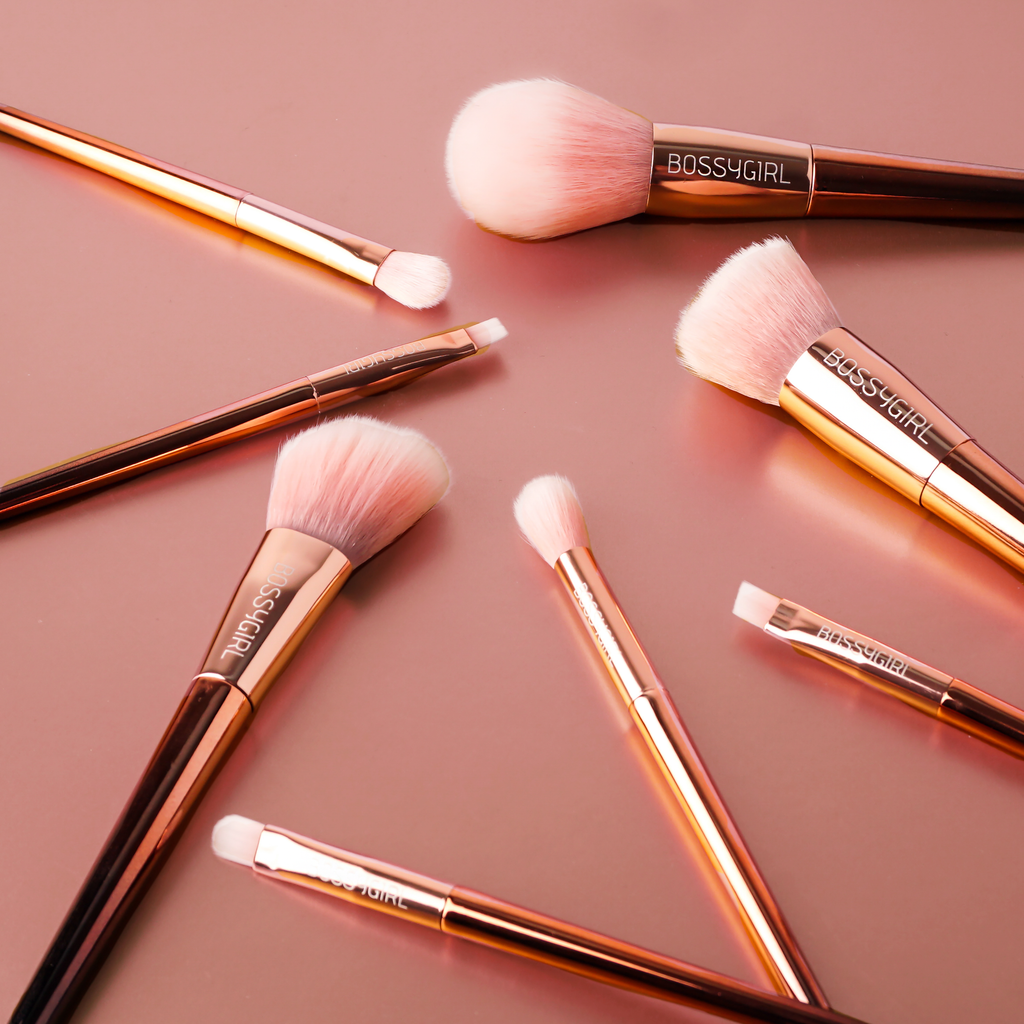 Rose Gold Brush Set by Bossy Girl Cosmetics synthetic ultra-soft cruelty-free bossy girl cosmetics beauty