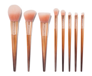 Rose 8-Piece Brush Set by Bossy Girl Cosmetics ; cruelty-free, ultra soft, luxurious makeup brushes