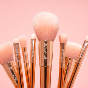 NEW Rose 8-Piece Brush Set