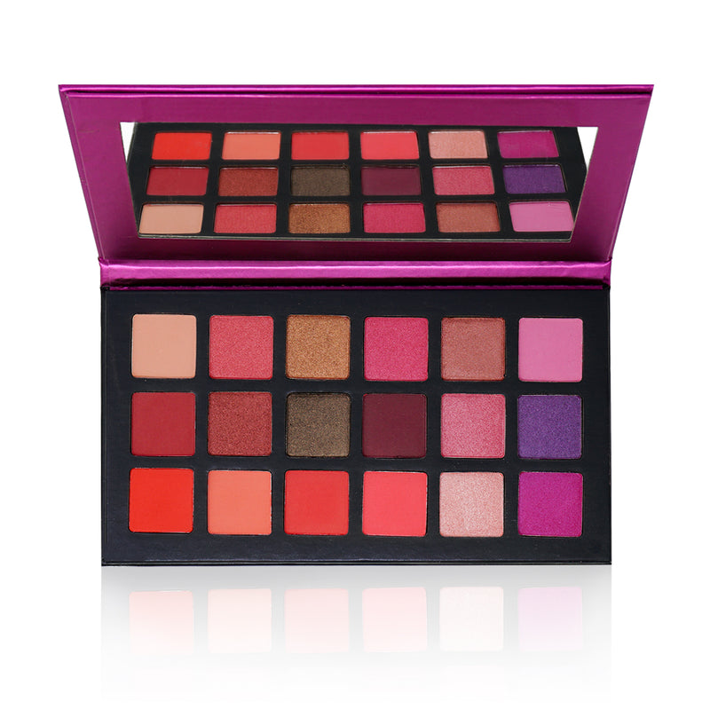 Seduction eyeshadow palette by Bossy Girl Cosmetics - High-pigment vegan cruelty-free cosmetics - pink eyeshadow palette - purple eyeshadow palette - glitter eyeshadow