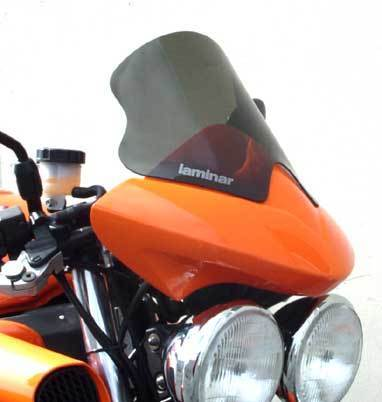 Laminar Speed Shield for Triumph Speed Triple 955 02-04 with accessory flyscreen
