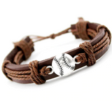 Leather Ball Bracelet