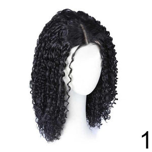 Small Curly Hair Fluffy Curly Hair Wig Solid Colored Wig For Women  Naturalblack  29.95 Angelas Couture dac0ab35d