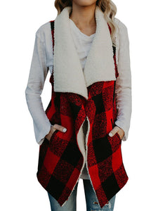 Umeko Womens Long Faux Fur Vest