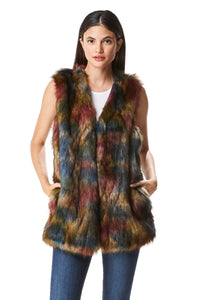Goodcape Holly Series Women's Long Faux Fur Vest
