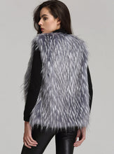 Anna & Chris Womens Soft Black faux Fur Vest