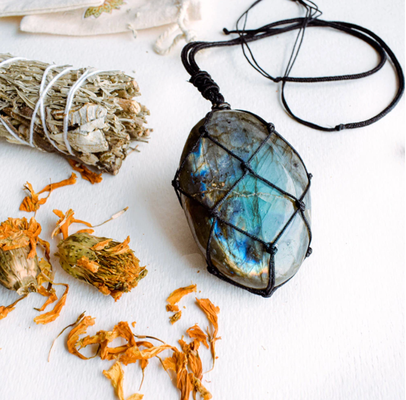 Dragon Heart Natural Labradorite Necklace