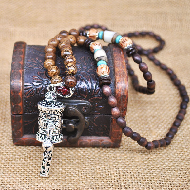 Buddhist Mala Necklace - Handmade in Nepal