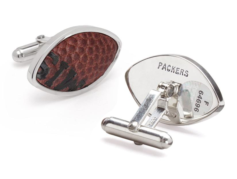 NFL GAME USED FOOTBALL CUFF LINKS