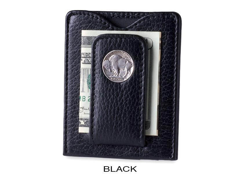 black buffalo nickel wallet