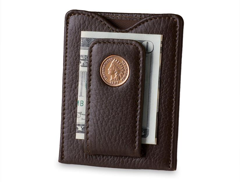 INDIAN HEAD MONEY CLIP/CARD HOLDER