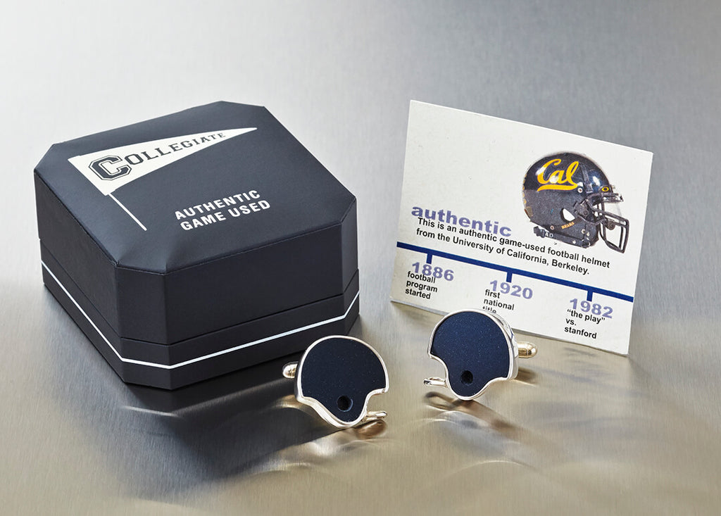 UC BERKELEY FOOTBALL HELMET CUFF LINKS