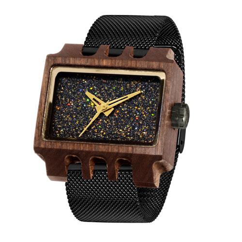 LENZO SILICO WOOD WATCH