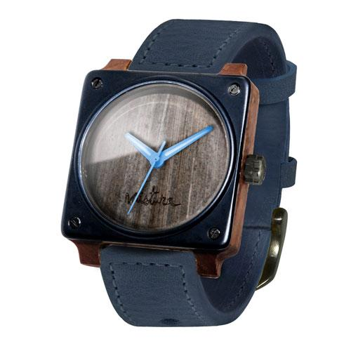 SQUARE  WOOD WATCH by MISTURA