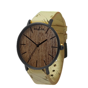 STAINLESS STEEL WOOD WATCH