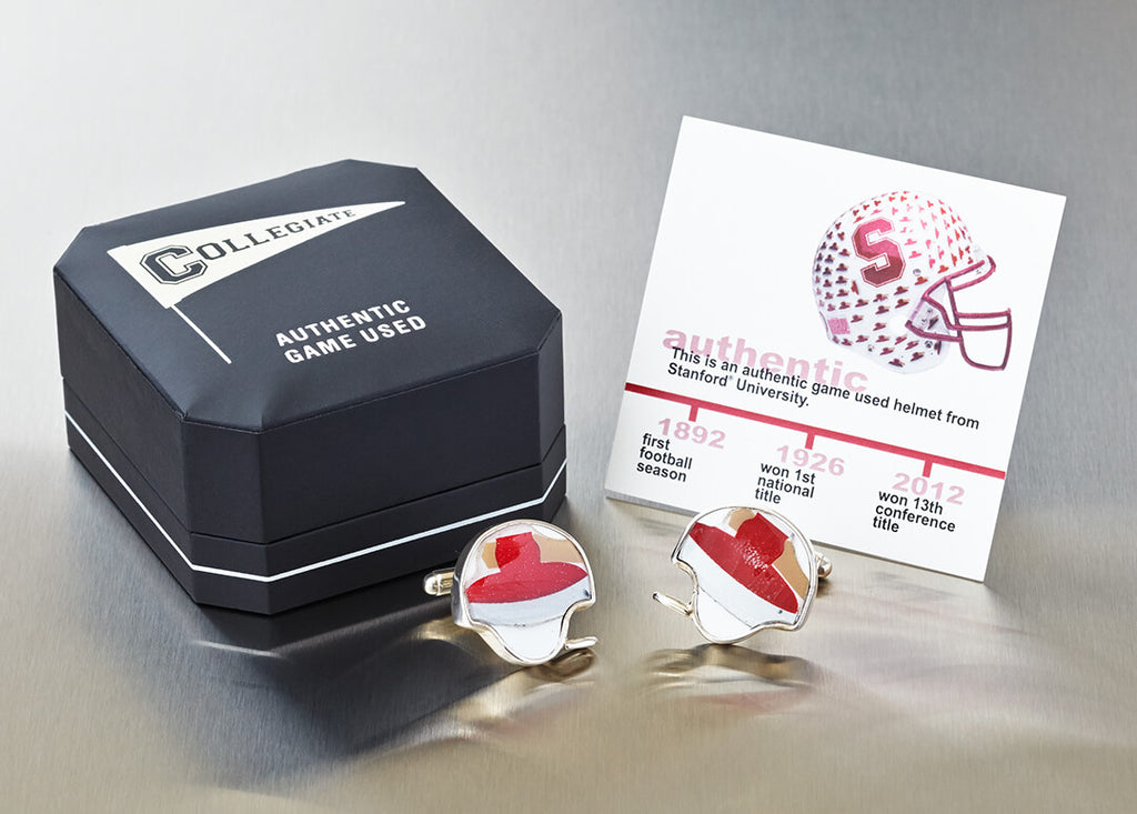 STANFORD FOOTBALL HELMET CUFF LINKS
