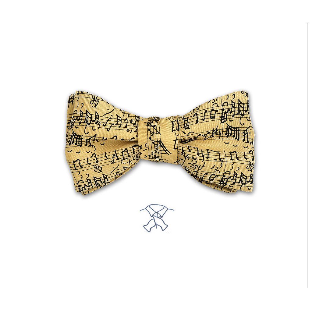 MUSICAL NOTES BOW TIE