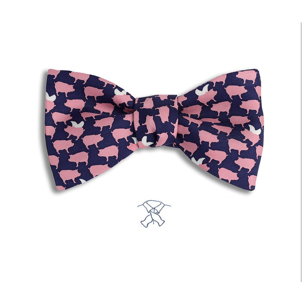 FLYING PIGS BOW TIE
