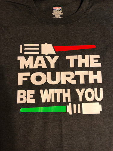 Men's may the fourth be with you T-shirt