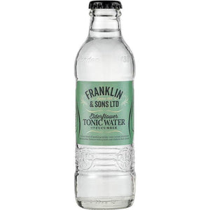 Franklin & Sons - Elderflower Tonic Water with Cucumber 200ml - WhataHoot Gin