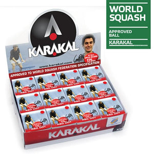 Karakal Red Dot Squash Balls - Box of 12