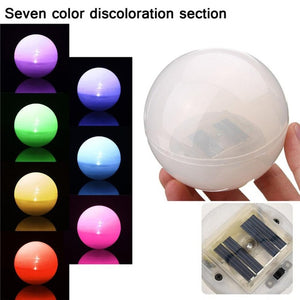 Solar LED Ball 7 Color Changing night Light For Swimming Pool Gardens Home Decor Floating lights