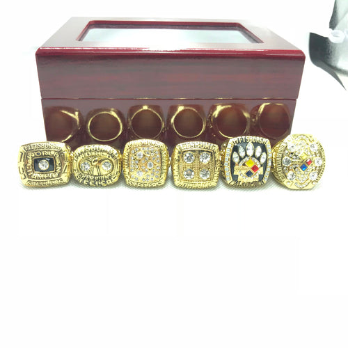 Pittsburgh Steelers Championship Rings 1975 1975 1978 1979 2005 2008 ring set