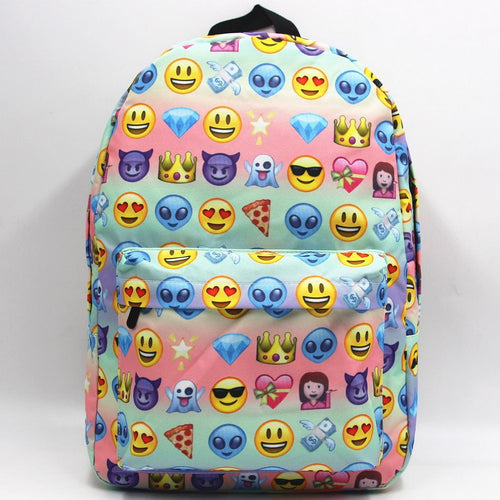 Women Girls Emoji Backpack Printed New Backpacks Softback Backpack Adjustable